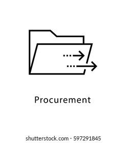 Procurement Vector Line Icon