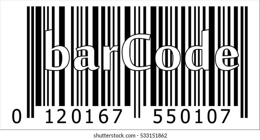 product bar code, encrypted item name manufacturer country, vector barcode.
