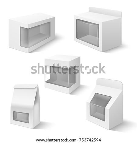 product boxes plastic window vector templates stock vector royalty