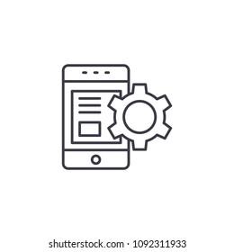 Product description linear icon concept. Product description line vector sign, symbol, illustration.