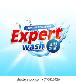 product design template for laundry detergent or soap