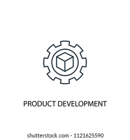 Product development concept line icon. Simple element illustration. Product development concept outline symbol design from startup set. Can be used for web and mobile UI/UX