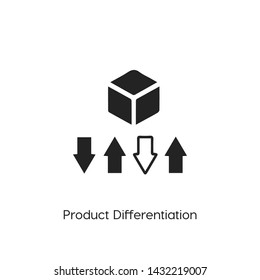 product differentiation icon vector symbol sign