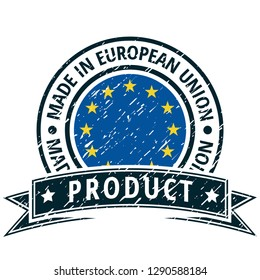 Product Made in European Union illustration