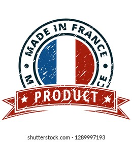 Product Made in France button illustration