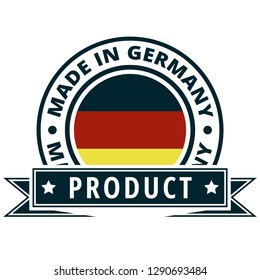 Product Made in Germany label illustration