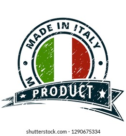 Product Made in Italy label illustration