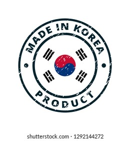 Product Made in Korea label illustration