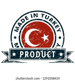 Product Made in Turkey label illustration