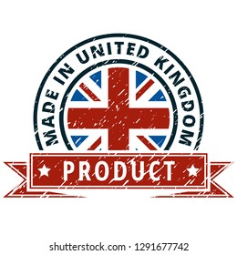 Product Made in United Kingdom label illustration