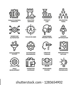 PRODUCT MANAGEMENT LINE ICON SET