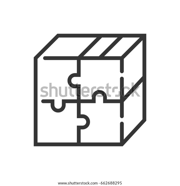 Product Market Fit Icon Part Square Stock Vector (Royalty Free