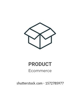Product outline vector icon. Thin line black product icon, flat vector simple element illustration from editable ecommerce concept isolated on white background