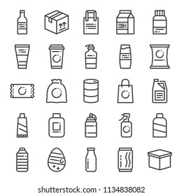 product packaging pixel perfect icons, vector line editable stroke (48x48)
