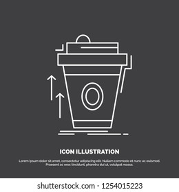 product, promo, coffee, cup, brand marketing Icon. Line vector symbol for UI and UX, website or mobile application