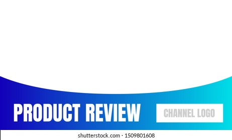 product review cover template video thumbnails vector.