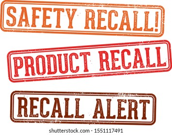 Product and Safety Recall Stamps
