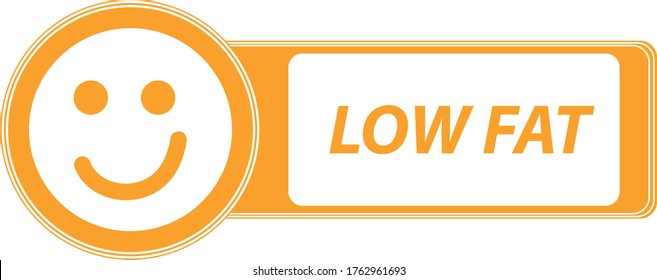 Product sticker. Low fat product