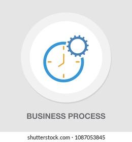 production clock icon, production planning process symbol