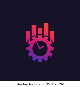 productivity and efficiency vector icon