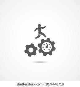 Productivity icon on white background