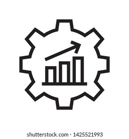 Productivity icon in trendy outline style design. Vector graphic illustration. Suitable for website design, logo, app, and ui. Editable vector stroke. EPS 10.