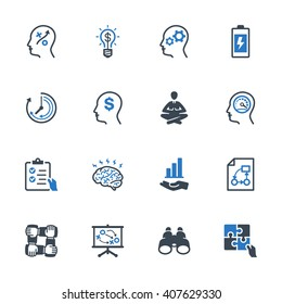 Productivity Improvement Icons Set 2 - Blue Series
