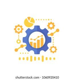 productivity, productive capacity, performance analytics, vector