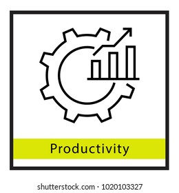 Productivity setting vector icon