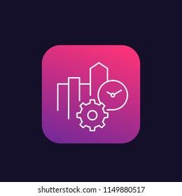 productivity, thin line vector icon