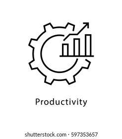 Productivity Vector line Icon