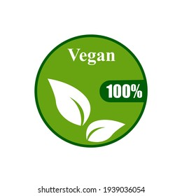 products for vegans, icon on a white background, vector illustration