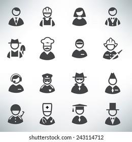 profession icons vector set