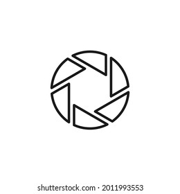 Profession and occupation concept. Graphic designer and photogtapher. Line icon of blades of camera shutter