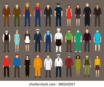 Profession People set. Vector illustrations