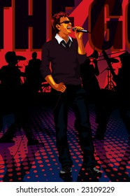 Profession set: singer performing on a concert (browse our portfolio for more music related vectors)