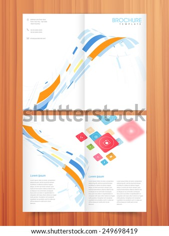 professional 2 page brochure template flyer stock vector royalty