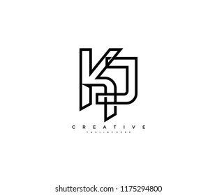 Kj Monogram Images Stock Photos Vectors Shutterstock