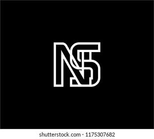 Professional Artistic Monogram Letter NS Linked Design Logo
