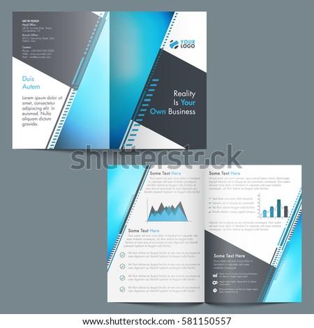 Professional Brochure Template Design Statistical Elements Stock