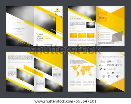 Professional Business Brochure Set Reports Presentations Stock