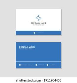 Professional business card design template