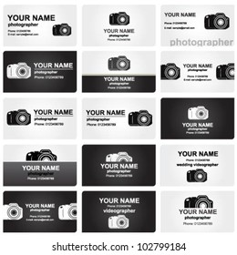 Professional business card set for photographers