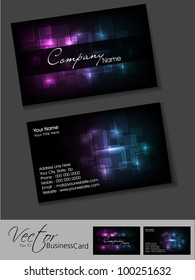 Professional Business Card Set Template Or Visiting Artistic Abstract Corporate Look In