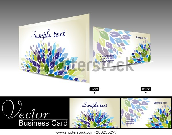 Professional Business Card Visiting Card Flower Stock Vector