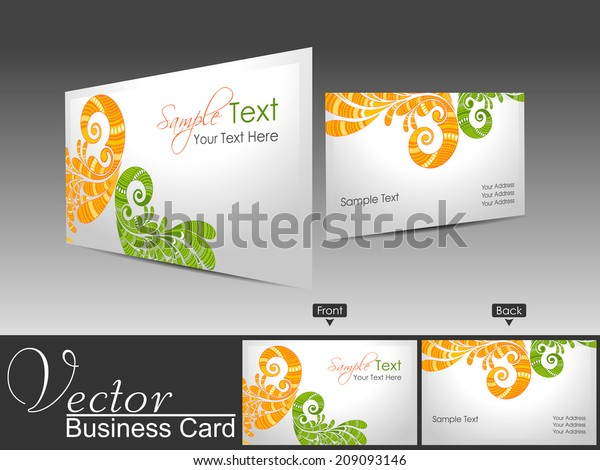 Professional Business Card Visiting Card Set Stock Vector