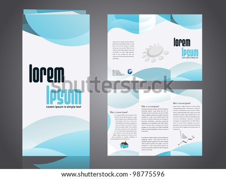 Professional business catalog template corporate 3 stock vector professional business catalog template or corporate 3 fold brochure design with inner pages for document accmission Gallery