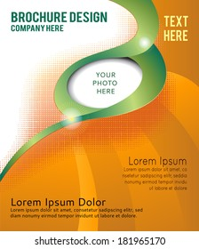 Professional business design layout template or corporate design. Magazine cover, publishing and print presentation. Abstract vector background.