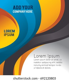 Professional business design layout template or corporate banner design. Magazine cover, publishing and print presentation. Abstract vector background.