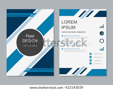 Professional Business Flyer Template Booklet Brochure Stock Vector